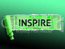 Inspiration Word Indicates Positive Motivate 3d Illustration