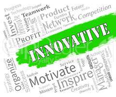 Innovative Words Represents Creative Breakthrough And Ideas
