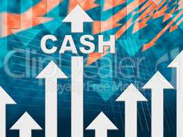 Cash Graph Means Wealth Prosperity And Earnings