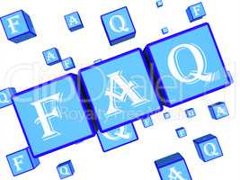 Faq Words Indicate Frequently Asked Questions 3d Rendering