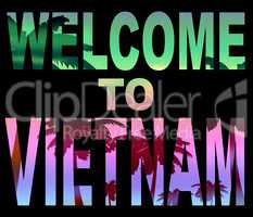 Welcome To Vietnam Means Greeting Arrival And Holiday