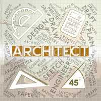 Architect Words Means Architecture Draftsman And Employment