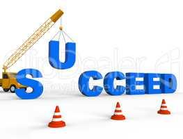 Build Success Shows Progress Winner 3d Rendering