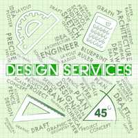 Design Services Shows Graphic Creation And Visualization