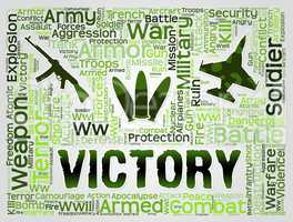 Victory Words Means Winning Battle And Victorious