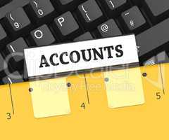 Accounts File Indicates Accountant Auditing 3d Rendering