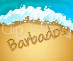 Barbados Holiday Shows Caribbean Vacation 3d Illustration