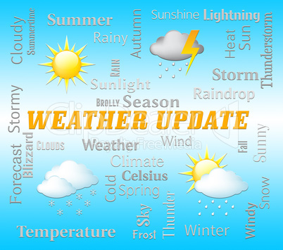 Weather Update Shows Outlook Report And Forecast