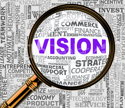 Vision Magnifier Means Aim Forecasting 3d Rendering