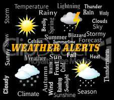Weather Alerts Shows Forecast Warning And Update