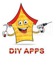Diy Apps Shows Do It Yourself And Application