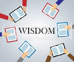 Wisdom Books Shows Education Fiction And Academic