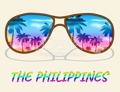 Philippines Holiday Indicates Asian Vacation Or Getaway