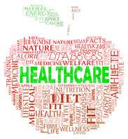 Healthcare Apple Means Medical Wellbeing And Wellness