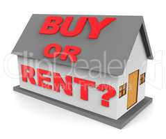 Buy Rent House Indicates Home Renting 3d Rendering