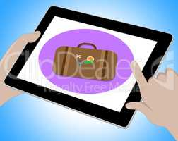 Travel Tablet Indicates Journey Tours 3d Illustration
