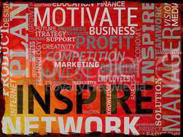Inspire Words Indicates Inspiration Action And Motivate