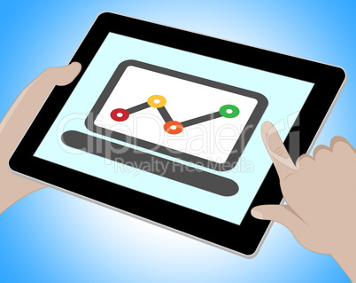 Graph Online Means Graph Forecast 3d Illustration