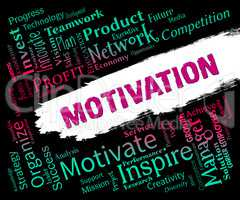 Motivation Word Represents Do It Now And Inspire