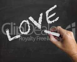 Love Word Shows Compassion Affection And Fondness