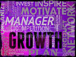 Growth Words Indicate Improvement Growing And Expansion