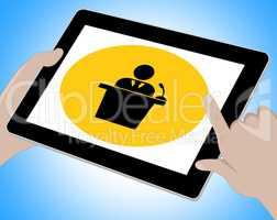 Seminar Tablet Indicates Forum Online 3d Illustration