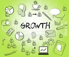 Growth Icons Means Increase Rise And Growing