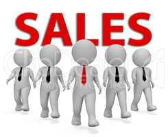 Sales Businessmen Represents Retail Entrepreneur 3d Rendering