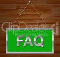 Faq Sign Shows Frequently Asked Questions And Advertisement