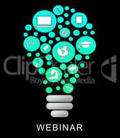 Webinar Lightbulb Means Power Source And Education