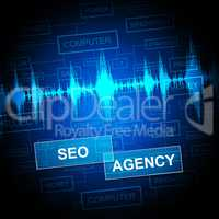 Seo Agency Shows Search Engine And Agent