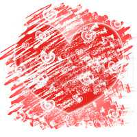 Background Hearts Represents Valentines Day And Abstracts