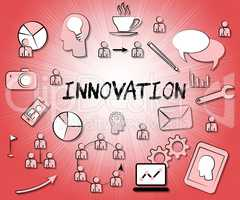 Innovation Icons Shows Reorganization Transformation And Restruc