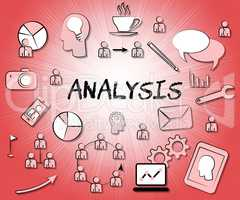 Analysis Icons Means Symbols Investigate And Investigation