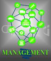Management Ideas Indicates Reflecting Innovations And Administra