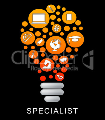 Specialist Lightbulb Indicates Power Source And Expertise