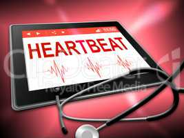 Heartbeat Tablet Means Pulse Trace And Cardiology