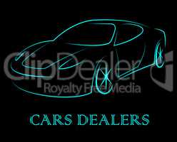 Car Dealers Indicates Business Organisation And Automobile