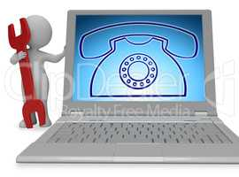 Telephone Call Indicates Answers Discussion 3d Rendering