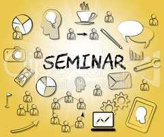 Seminar Icons Represents Symbols Forum And Seminars