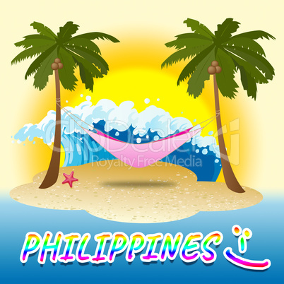 Philippines Holiday Shows Summer Time And Beach