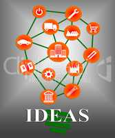 Ideas Icon Indicates Considerations Contemplating And Innovation