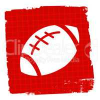 Rugby Ball Represents League Sign And Match