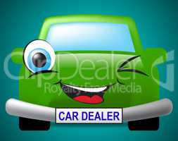 Car Dealer Shows Business Concern And Automotive