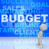 Budget Words Means Bills Costing And Money 3d Rendering