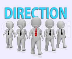 Direction Businessmen Means Aim Businessman And Entrepreneurs 3d