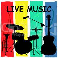 Live Music Shows Sound Track And Audio