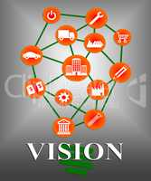 Vision Icons Shows Commercial Planning And Missions