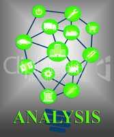 Analysis Icons Represents Data Analytics And Analyse