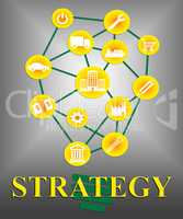Strategy Icons Means Tactics Tactic And Strategies